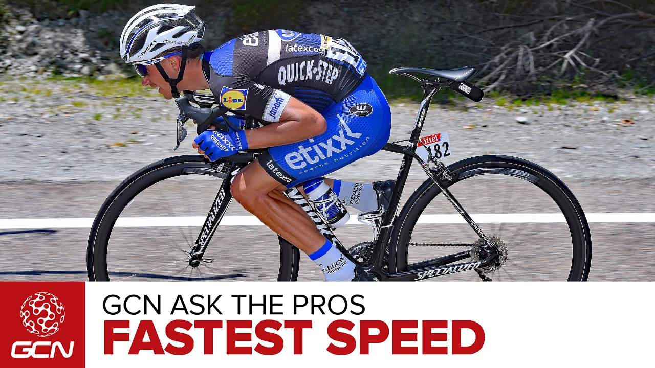 What S The Fastest Speed You Ve Been On A Bike Gcn Ask The Pros Youtube