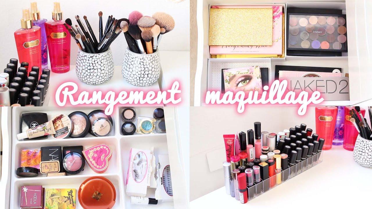 mon rangement maquillage laura makeuptips youtube. Black Bedroom Furniture Sets. Home Design Ideas