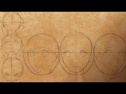 Профессиональные Курсы Рисования Манги. Урок 1. Голова и Лицо [Промо]