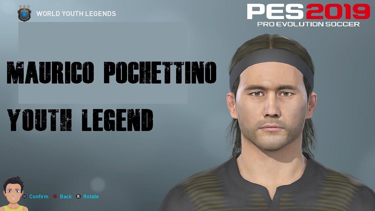 Mauricio Pochettino - PES 2019 Youth Legend (inc all stats & motions)