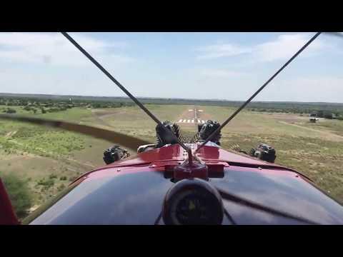 Landing at Mashatu, Botswana
