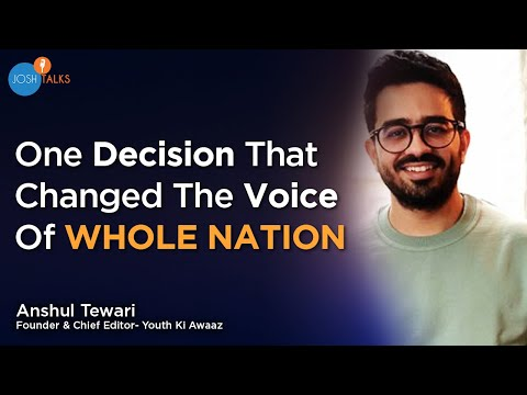How My Career Decision Changed EVERYONE'S Life | Anshul Tewari | Youth Ki Awaaz | Josh Talks