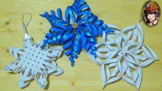 NEW YEAR'S VOLUMINOUS SNOWFLAKES OUT TAMARANA. Beautiful Snowflakes Simply and Quickly