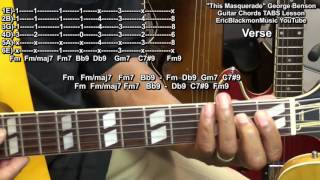 How To Play THIS MASQUERADE George Benson Guitar Chords Lesson