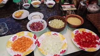 Гороховый суп в мультиварке с помидорами и томатной пастой)))