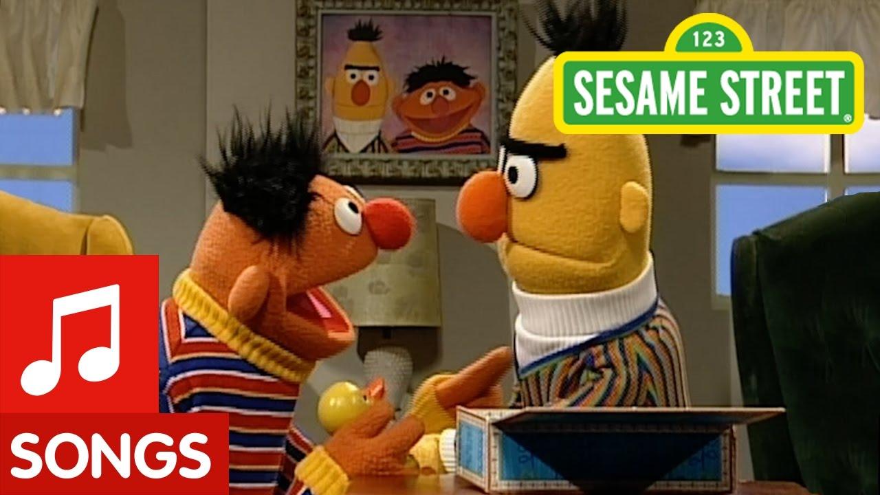 Sesame Street Bert Sings Rubber Duckie Youtube