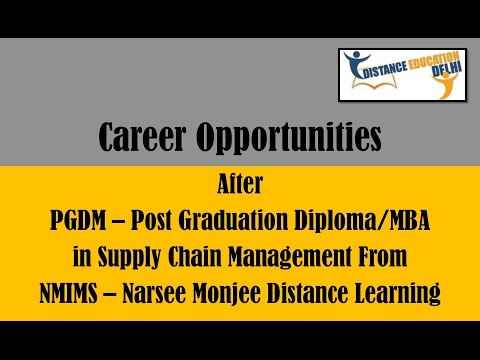 Career Opportunities After Post Graduation Diploma In Supply Chain Management From Nmims