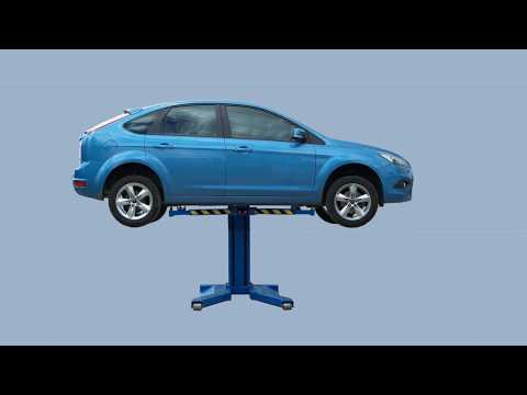 Bradock Series 7 Single Post Mobile Hydraulic Lift From NGE Garage Equipment Services Ltd (UK)