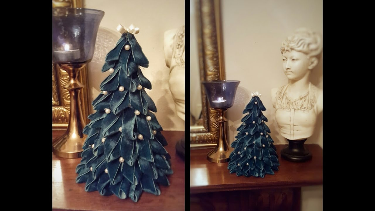 How To Make A Small Christmas Tree With Ribbon, DIY