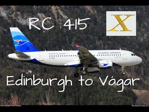 Pilotboy Flights: RC415 Edinburgh (EGPH) - Vágar (EKVG)