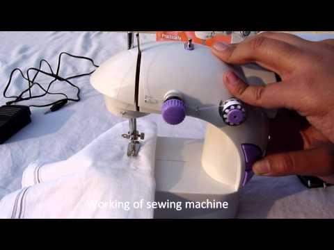 Mini Portable sewing machine- working .wmv