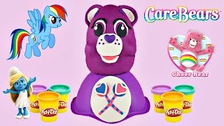 CARE BEARS Huge Play-Doh Surprise Egg | My Little Pony Smurfs LEGO Friends Pet Shop LPS