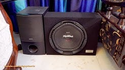 Sony car sub-woofer with a home theater receiver! No 12-volt amp or car stereo required