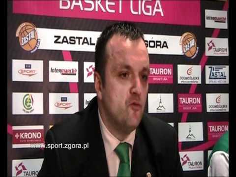 sport.zgora.pl - Konferencja po meczu Zastal Zielona Góra - AZS Koszalin 83:77