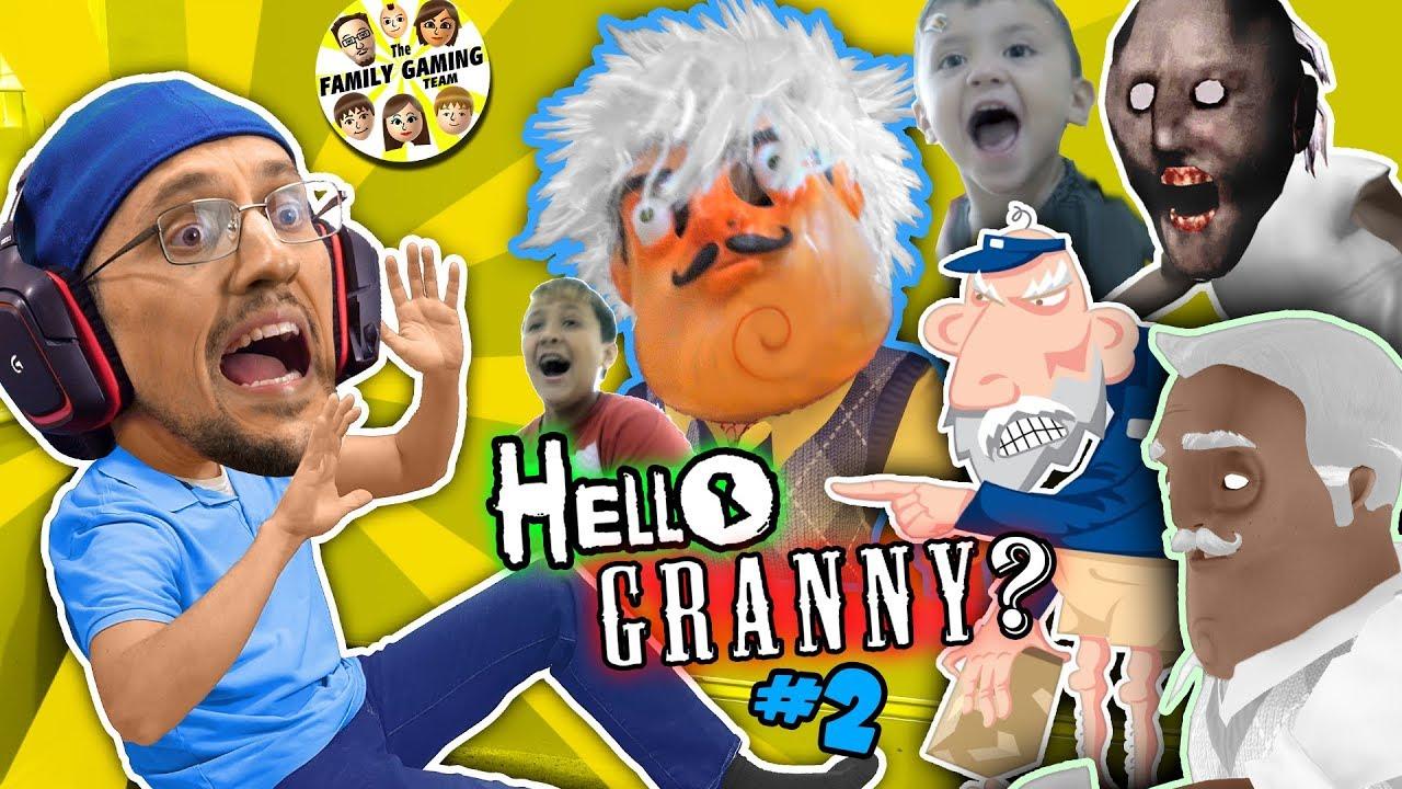 HELLO GRANNY in our HOUSE!!! FGTEEV ❤️s GRANNY BABE! Hello Neighbor Grannys House Mod Game #2