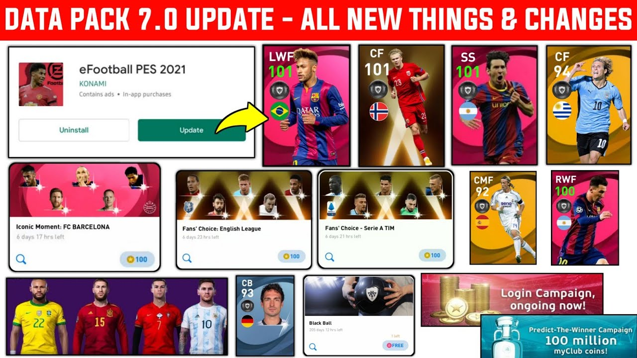 NEW DLC 7.0 UPDATE & ALL NEW THINGS AND CHANGES | Release Date | Pes 2021 Mobile