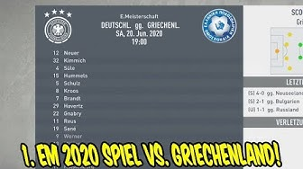 Das 1. Spiel bei der EM 2020 vs. GRIECHENLAND! - Fifa 20 Karrieremodus FC Bayern München #38