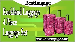 Rockland Luggage 4 Piece Luggage Set Review