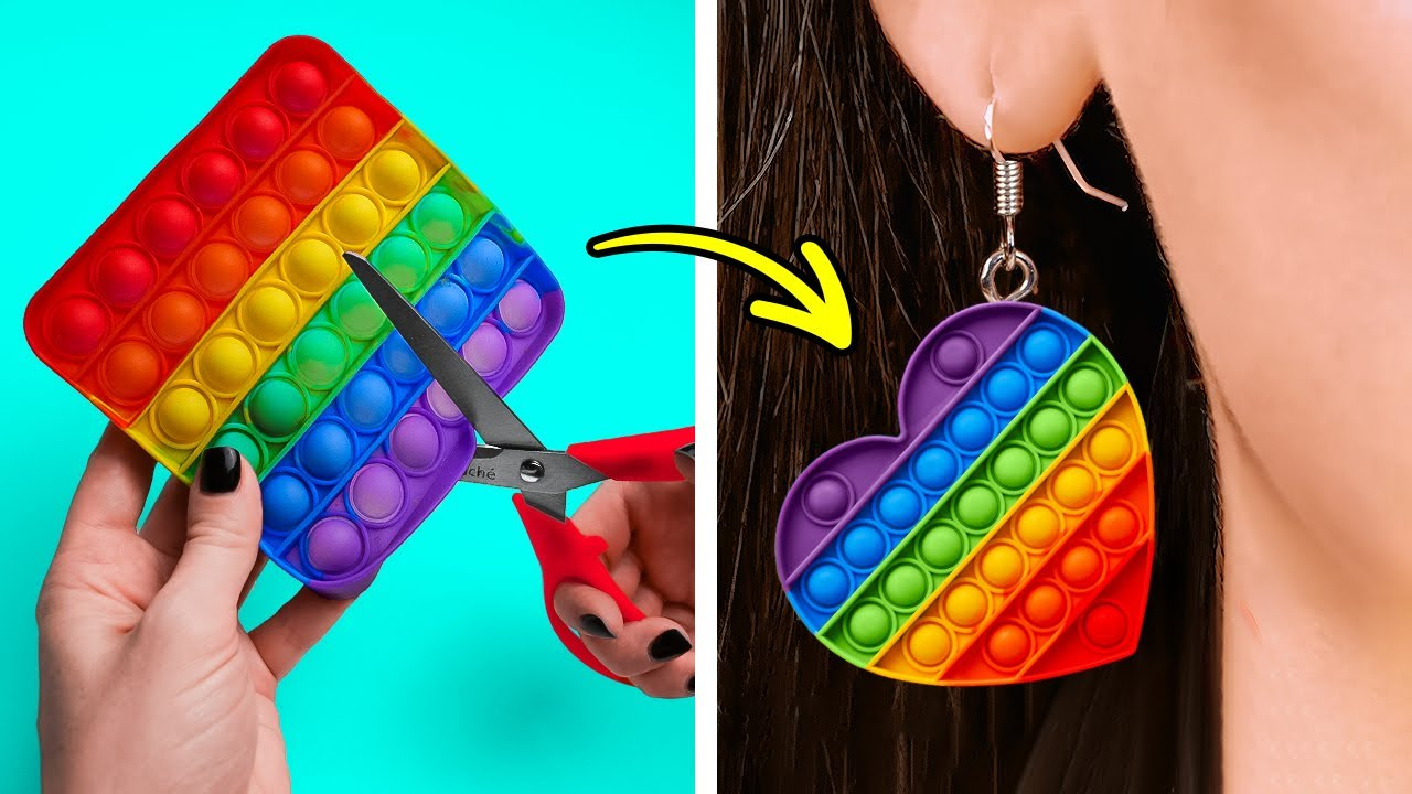 Colorful POP IT DIY Ideas That You'll Be Grateful For || Mini Crafts, Accessories And Pop It Hacks