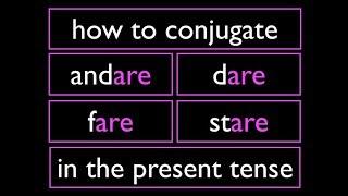 Italian Present Tense 3 Irregular verbs  -ARE