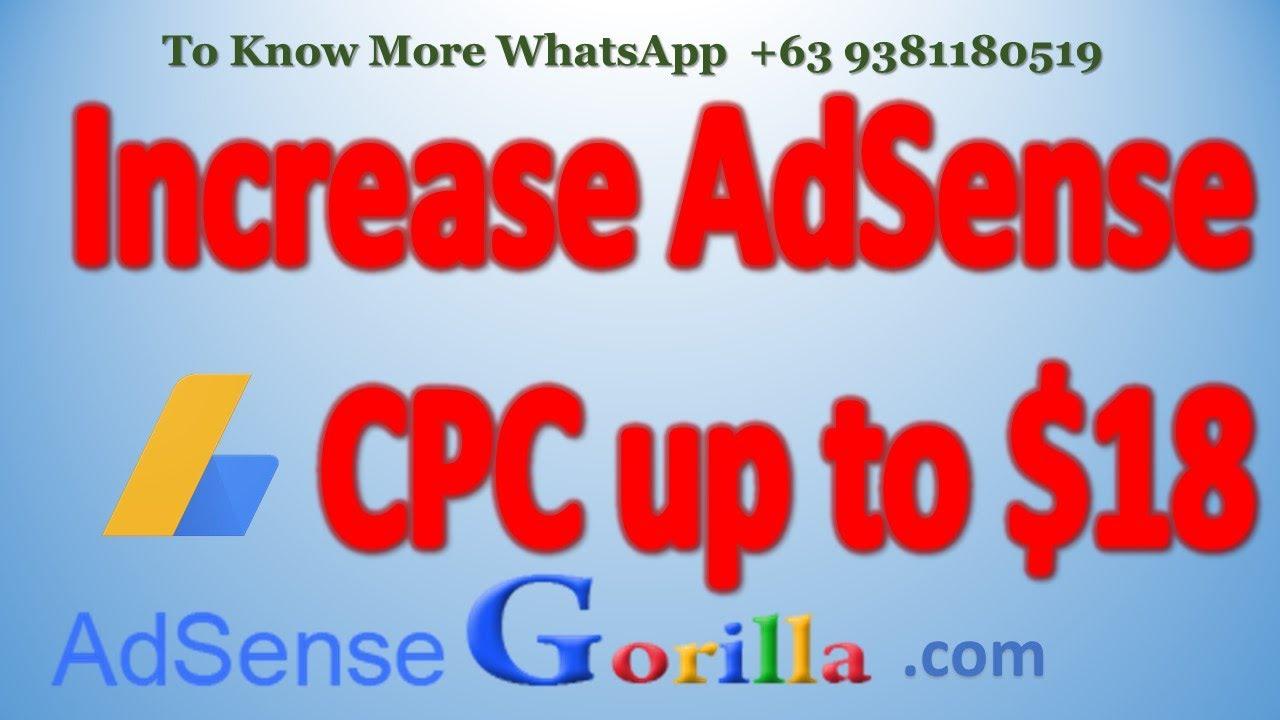 Increase AdSense CPC to $18 | Amazing #AdSense CPC