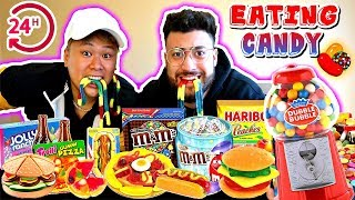 I ONLY ATE CANDY FOODS FOR 24 HOURS! (IMPOSSIBLE FOOD CHALLENGE)