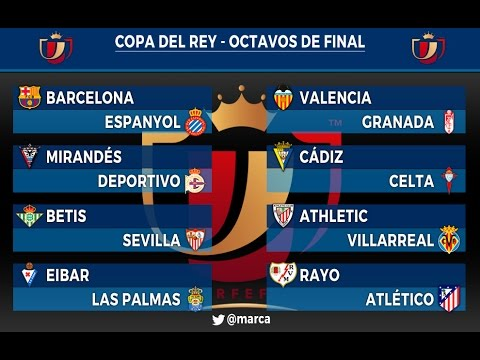 Sorteo COPA DE REY - Octavos de final 2015/16 - YouTube
