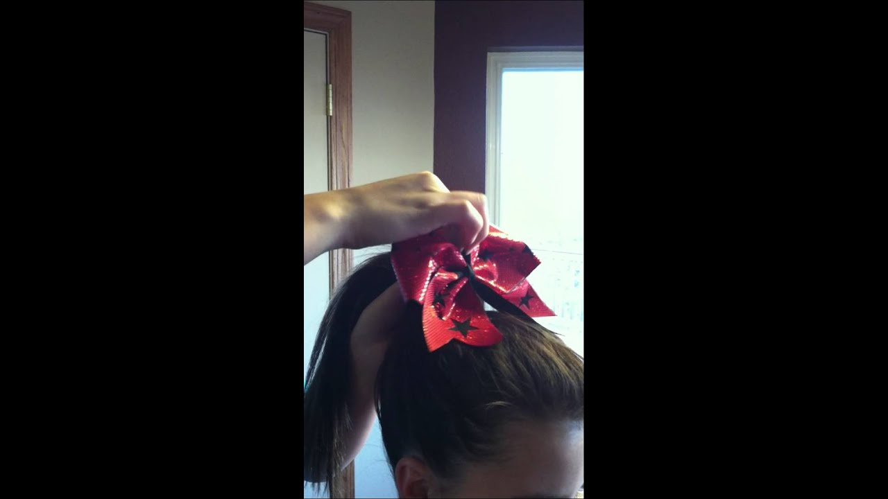 How To Put Cheer Bow In