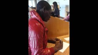 Nick Ogutu Live: Congo refugee PLACIDE applying for Public Library Card