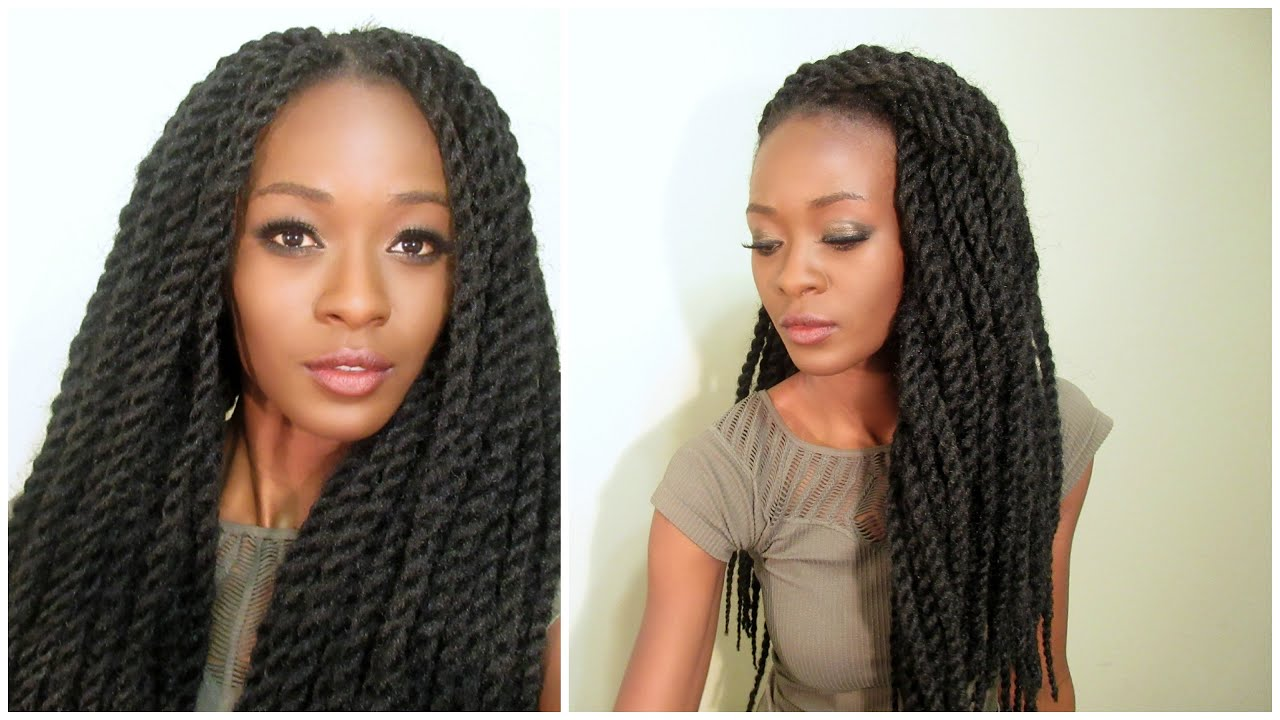 realistic senegalese twist crochet braids with individual twist perimeter (pre-twisted hair)