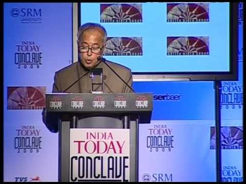 India Today Conclave: Session With Pranab Mukherjee