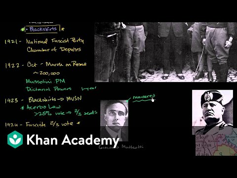 Mussolini becomes absolute dictator (Il Duce) | The 20th century | World history | Khan Academy