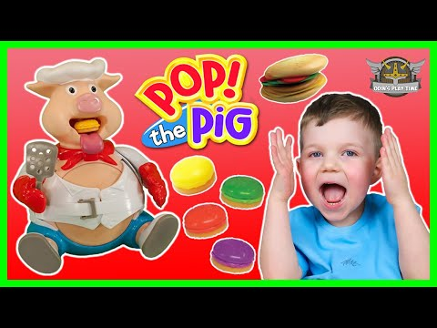 PIG goes POP Game | Pop the Pig Family Fun Game for Kids | Odins Play Time