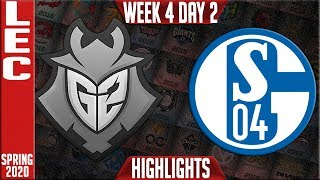 G2 vs S04 Highlights | LEC Spring 2020 W4D2 | G2 Esports vs Schalke 04