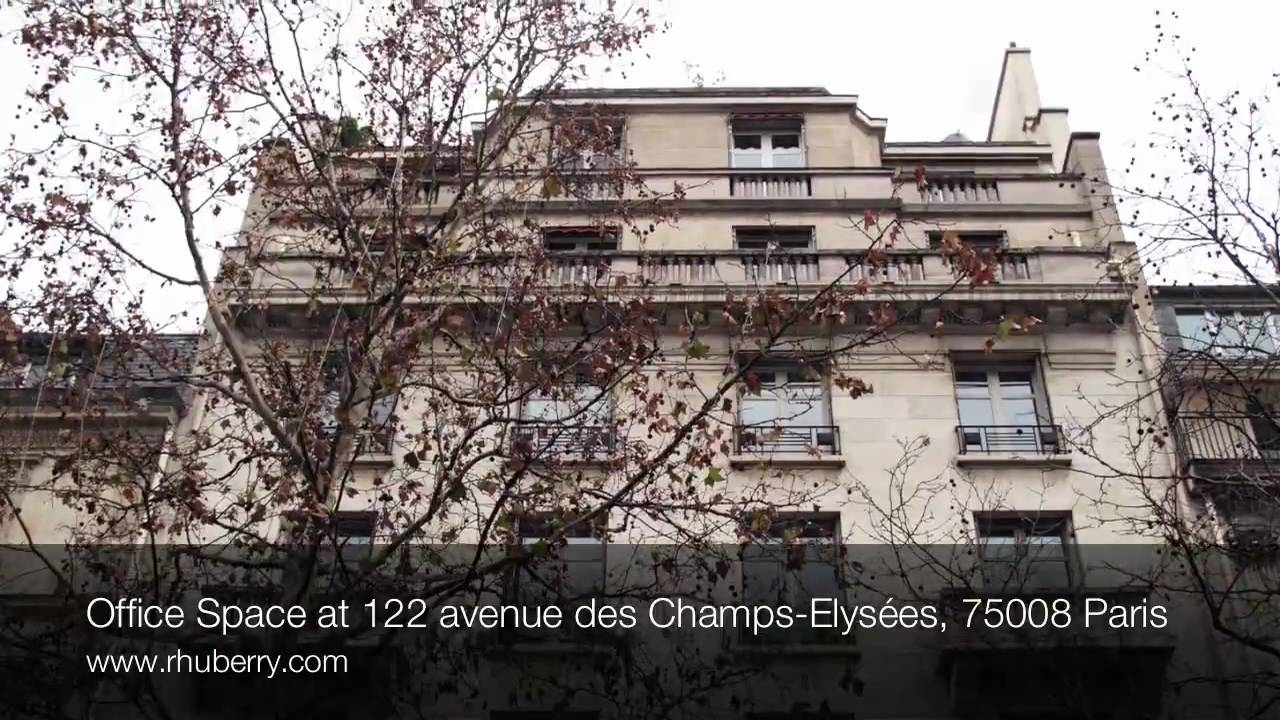 office space at 122 avenue des champs elys es 75008 paris youtube. Black Bedroom Furniture Sets. Home Design Ideas