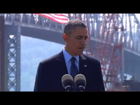 President Obama Discusses Infrastructure Investment Near The Tappan Zee Bridge