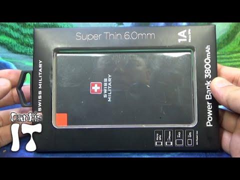 스위스 밀리터리 파워 보조배터리, 스마트폰 충전용 슬림 충전기 구입 리뷰 3800mAh CS3383