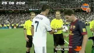 messi y cristiano ronaldo no se saludan supercopa 2012 hd real madrid vs fc barcelona