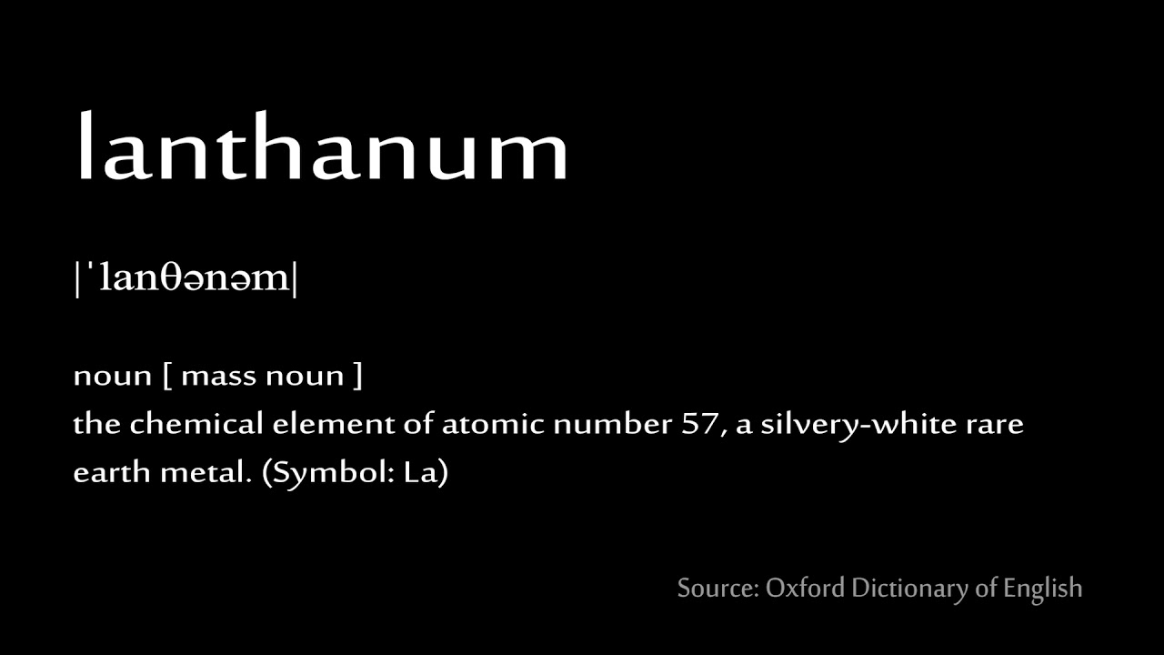 57 lanthanum how to pronounce chemical elements periodic table - Lanthanum Periodic Table Atomic Mass