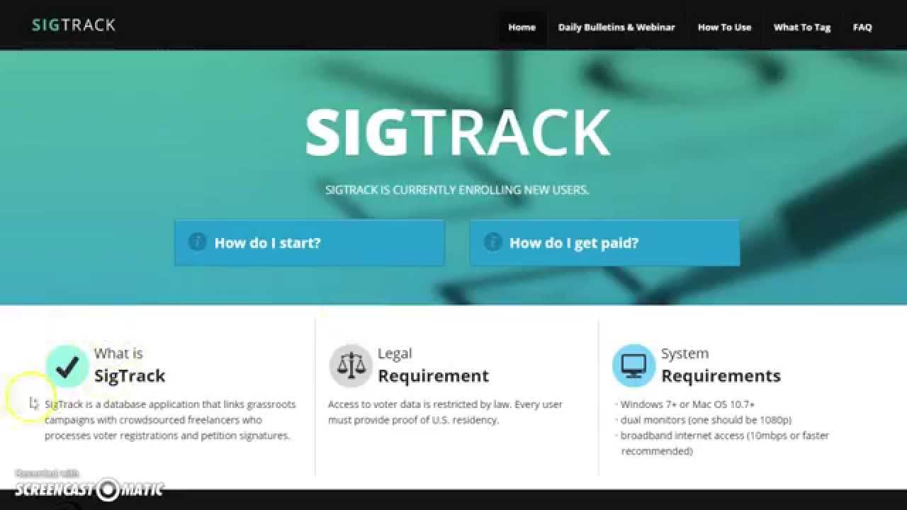 Sigtrack is Hiring Freelance Data Entry Keyers w/ No Experience!