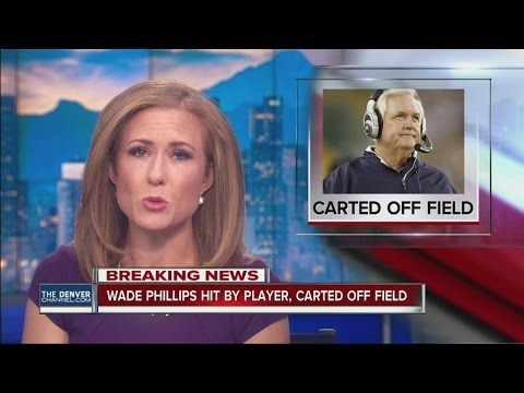 Wade Phillips hit by player, carted off field