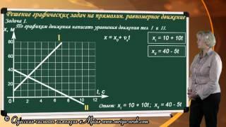 Решение графических задач на равномерное движение