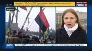 Блокаду украинских радикалов пытались прорвать люди в медицинских масках