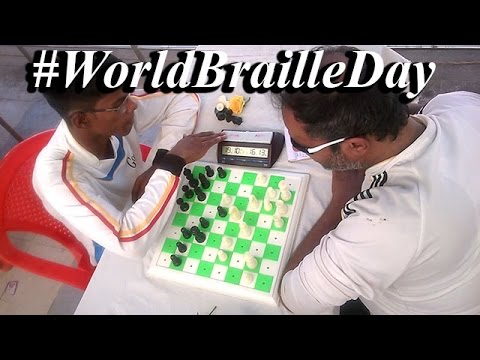 Watch how blind people play Chess