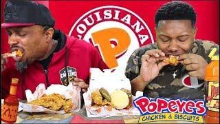 Popeye's Chicken Mukbang With My Uncle (Bloveslife Brother) 🍗🌶️