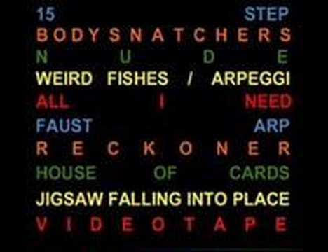 Radiohead - Weird Fishes/Arpeggi Lyrics | MetroLyrics