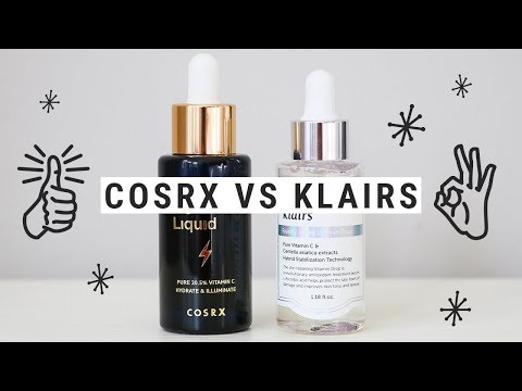 VITAMIN C SERUM SMACKDOWN - klairs vs. cosrx!!