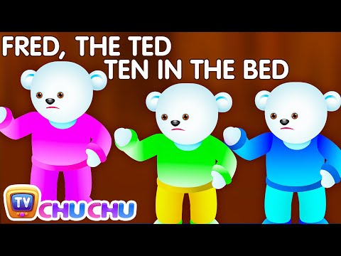 Thumbnail: Ten In The Bed Nursery Rhyme With Lyrics - Cartoon Animation Rhymes & Songs for Children