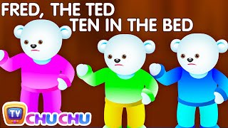 Repeat youtube video Ten In The Bed Nursery Rhyme With Lyrics - Cartoon Animation Rhymes & Songs for Children