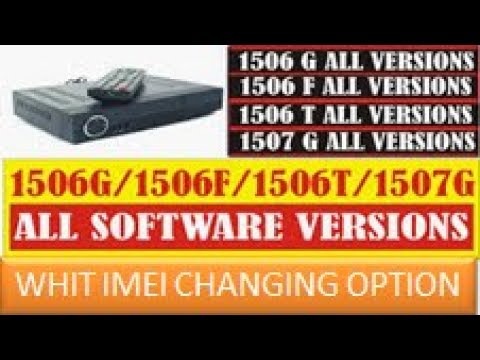 Breaking News Naye software aagaye 1506G, 1506T 1506F & 1507G Receivers New  PowerVU Softwares